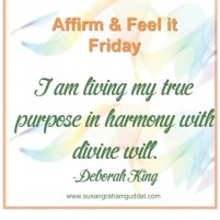 I am living my true purpose in harmony with divine will. :)